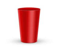 Red plastic glass Royalty Free Stock Photo