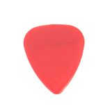 Red plastic guitar plectrum Royalty Free Stock Photo
