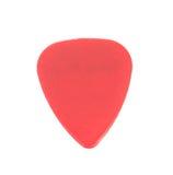 Red plastic guitar plectrum Royalty Free Stock Photo