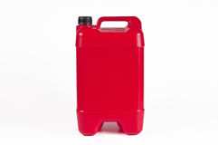 Red plastic jerrycan Royalty Free Stock Images