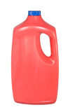 Red Plastic Jug/Bottle of Cleaner stock images