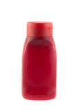 Red plastic ketchup bottle Royalty Free Stock Photo