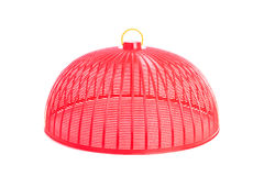 Red plastic mesh cover (used to cover food to protect from insec Royalty Free Stock Images