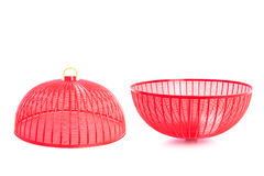 Red plastic mesh cover (used to cover food to protect from insec Stock Image
