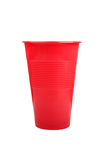 Red plastic mug Stock Photos