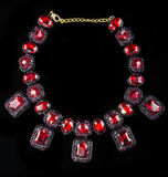 Red plastic  necklace Royalty Free Stock Photography