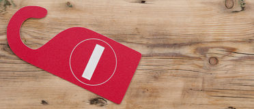 Red plastic no enter sign Royalty Free Stock Image