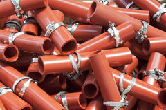 Red plastic parts Stock Image