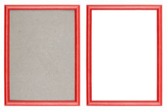Red plastic picture frame Stock Images
