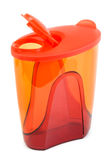 Red plastic pitcher Royalty Free Stock Photos