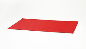 Red plastic placemat Royalty Free Stock Image