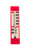 Red plastic retro thermometer Stock Photo