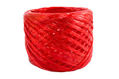 Red plastic rope Stock Image
