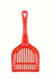 Red plastic scoop Stock Photography