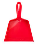 Red plastic scoop for cleaning Stock Images