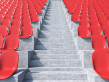 Red plastic seats Royalty Free Stock Photos