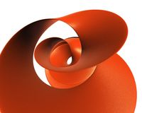 Red plastic spiral - rough surface wave - desktop high resolution Royalty Free Stock Photo
