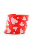 Red plastic spring toy Royalty Free Stock Images