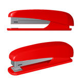 Red plastic stapler Royalty Free Stock Photo