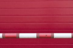 Red plastic striped wall Royalty Free Stock Photos
