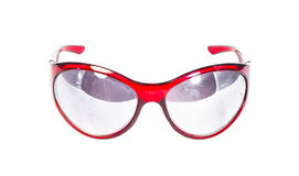 Red plastic sunglasses  Royalty Free Stock Photos