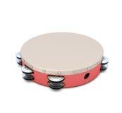 Red plastic tambourine Stock Photography