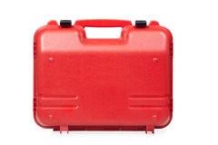 Red plastic toolbox Stock Photography