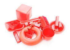 Red plastic toys Royalty Free Stock Photography