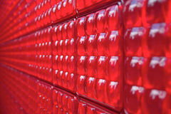 Red plastic wall Stock Images