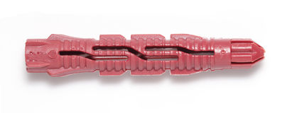 Red Plastic wall-plug Royalty Free Stock Images