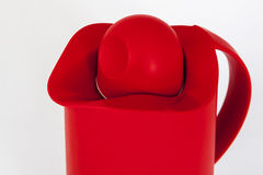 Red plastic water jug Stock Images