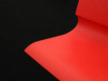 Red plastic wavy background Stock Photography