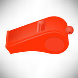 Red Plastic Whistle Stock Images