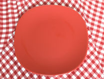 Red plate Stock Photography
