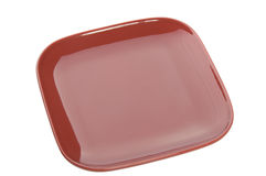 Red plate Stock Image