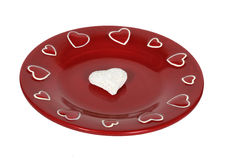 Red plate Royalty Free Stock Photo