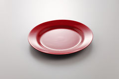 Red plate Royalty Free Stock Images