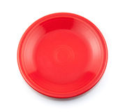 Red Plate. Isolated on white background Royalty Free Stock Photo