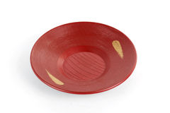 Red Plate Japanese style Royalty Free Stock Image