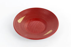 Red Plate Japanese style Royalty Free Stock Images