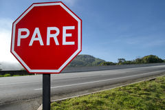 Red plate stop PARE 8803 Royalty Free Stock Image
