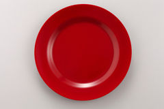 Red plate Stock Images