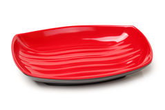 Red plate Stock Photo