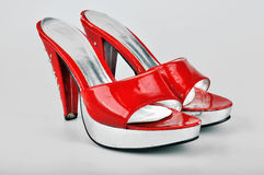 Red Platform Heels Royalty Free Stock Photography