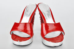 Red Platform Heels Stock Photo
