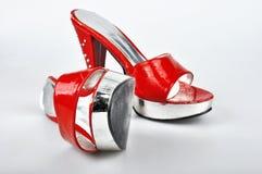 Red Platform Heels Royalty Free Stock Photo