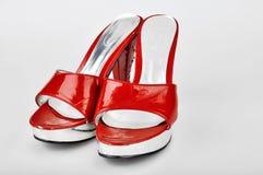 Red Platform Heels Royalty Free Stock Photos
