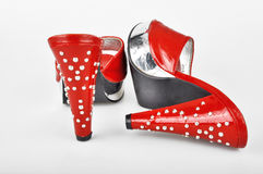 Red Platform Heels Stock Photography