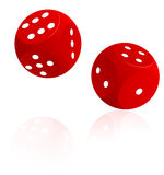 Red playing cubes Royalty Free Stock Image