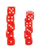 Red playing dices isolated Royalty Free Stock Photo